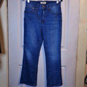 Madewell Cali Demi Boot Cut High Rise Jeans 28